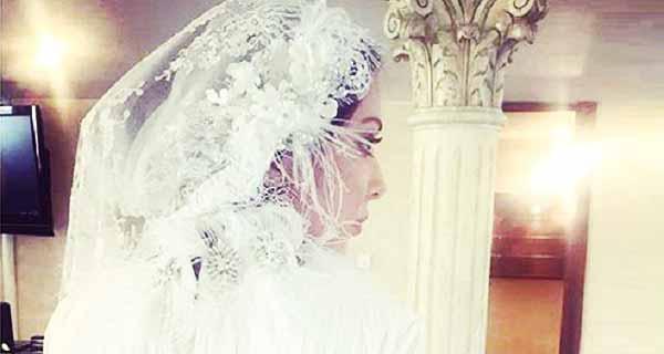 عروسی لیلا اوتادی, ازدواج لیلا اوتادی, مدل لباس عروس لیلا اوتادی