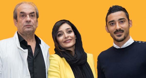 ساره بیات و پدرش ، ساره بیات در کنار پدرش و شوهر خواهرش رضا قوچان نژاد