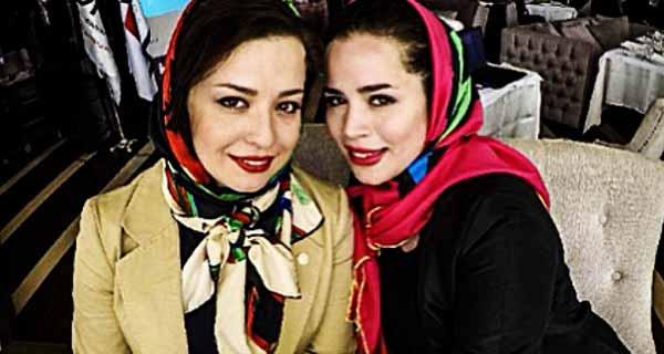 عکس ملیکا شریفی نیا و خواهرش مهرواره شریفی نیا