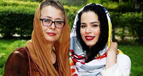 عکس ملیکا شریفی نیا و  مادرش آزیتا حاجیان