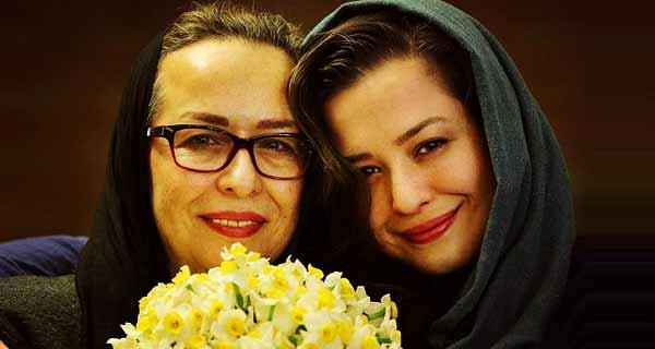 مهراوه شریفی نیا و مادرش ، ع مادر مهراوه شریفی نیا