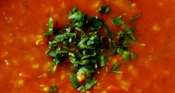 سوپ جو قرمز ، دستور پخت سوپ جو قرمز ، طرز نهیه سوپ جو قرمز رستورانی خوشمزه  و مجلسی ، سوپ جو