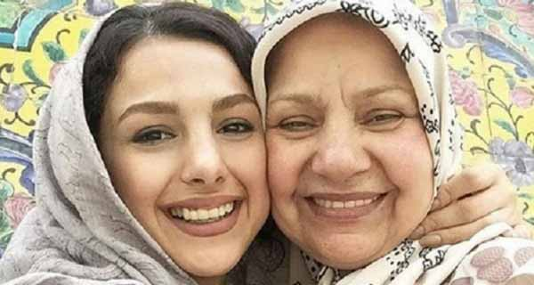 عکس مادر جوانه دلشاد ، جوانه دلشاد و مادرش
