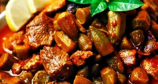 خورش بامیه ، خورشت بامیه ، مواد لازم خورشت بامیه ، طرز تهیه و دستور پخت خورشت بامیه ، khoresh-bamie