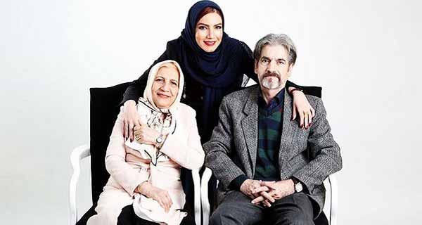 عکس پدر و مادر متین ستوده ، متین ستوده در کنار پدر و مادرش