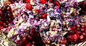 سالاد انار ، دستور تهیه سالاد انار با گل کلم و گردو ، طرز تهیه سالاد انار خوشمزه و مخصوص ، salad anar