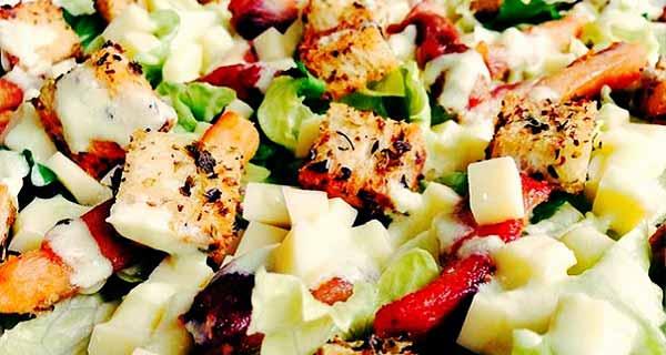 سالاد سزار ، طرز تهیه سالاد  سزار خوشمزه و مجلسی با سس مخصوص ، دستور تهیه سالاد سزار ایتالیایی ، salad sezar