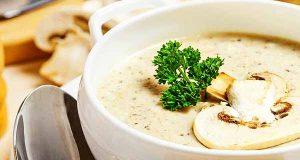 طرز تهیه سوپ قارچ و مرغ با شیر و خامه ، دستور پخت سوپ قارچ خوشمزه با مرغ و شیر ، مواد لازم سوپ قارچ رستورانی ، soup gharch