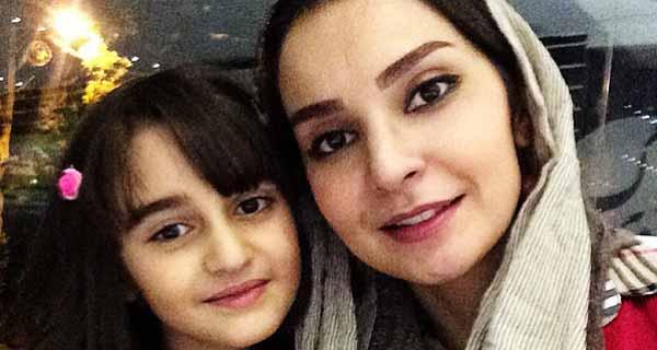 مهدیه نساج و دخترش ملینا ، عکس دختر مهدیه نساج