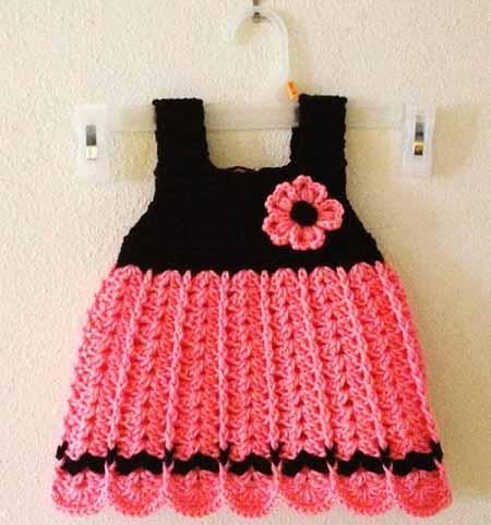 لباس بافتنی برای بچه دختر