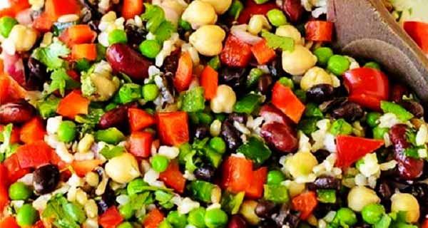 سالاد مکزیکی ، طرز تهیه و مواد  لازم سالاد مکزیکی خوشمزه و مخصوص ، سالاد مکزیکی ساده و اصل با لوبیا چیتی قرمز ،  salad-meczyki