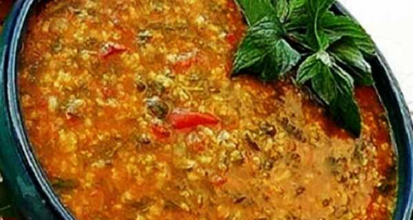آش گوجه فرنگی ، طرز تهیه و دستور پخت آش گوجه فرنگی ترکی ، مواد لازم آش گوجه فرنگی برای 2 نفر ، ash gojeh farangi