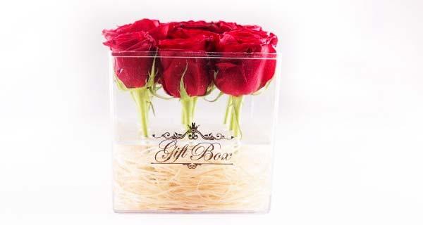 قیمت باکس گل و جعبه گل شیشه ای شیک و زیبا