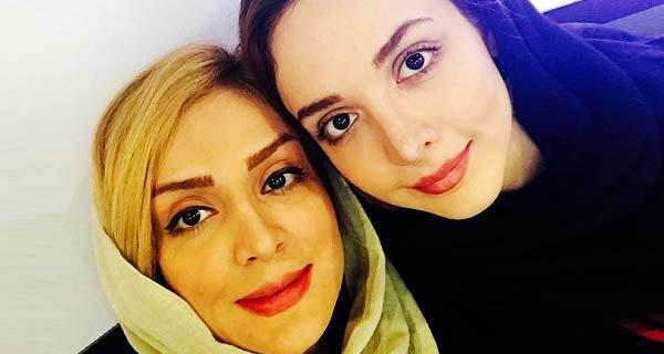 عکس المیرا دهقانی و خواهرش