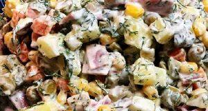 سالاد روسی ، طرز تهیه سالاد روسی اصل و خوشمزه ، مواد لازم و آموزش دستور درست کردن سالاد روسی مجلسی قالبی ، russian salad