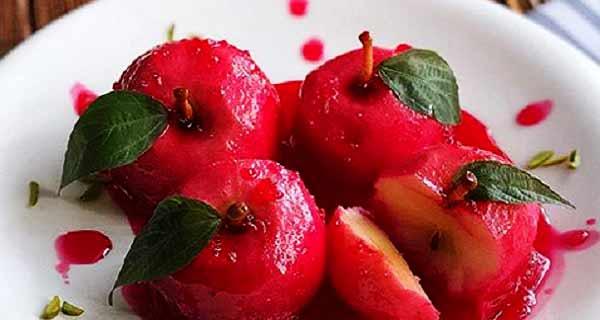 دسر سیب ، طرز تهیه و پخت دسر سیب سرخ شده با ژله به صورت خوشمزه و مجلسی ، دسر سیب ساده و ترش خوش طعم مخصوص و عالی ، dessert-apples