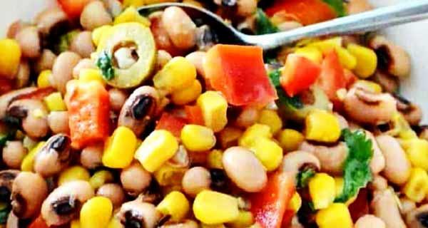 سالاد لوبیا چشم بلبلی و ذرت رژیمی در خانه، آموزش کامل طرز تهیه و مواد لازم سالاد لوبیا چشم بلبلی و ذرت به صورت خوشمزه و مجلسی خانگی، salad-loobia-cheshm-bolboli-va-zorrata