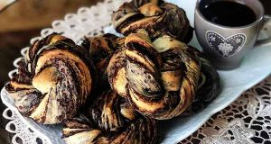 نان رولی دارچینی، طرز تهیه و پخت نان دارچینی رولی تصویری خوشمزه و مجلسی، آموزش کامل نان دارچینی در منزل به سبک فرانسوی و حلزونی
