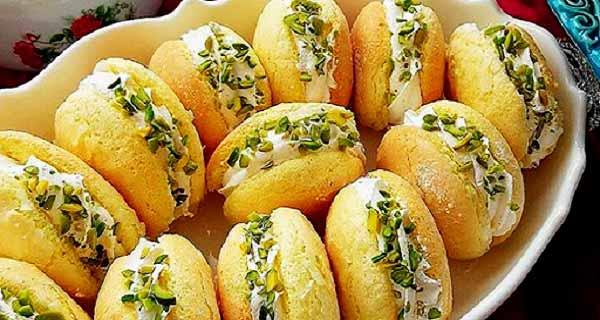 شیرینی لطیفه خامه ای، طرز تهیه و دستور پخت شیرینی لطیفه  خامه ای خوشمزه و مجلسی نرم به سبک قنادی و بازاری در منزل،  shirini-latifeh