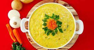 سوپ سیب زمینی، طرز تهیه و مواد لازم سوپ سیب زمینی خوشمزه و مجلسی با هویج و پیاز رنده شده و شیر در خانه، soup-sib-zamini