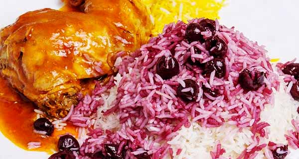 آلبالو پلو، طرز تهیه و پخت آلبالو پلو شیرازی خوشمزه و مجلسی  با فیله و ران مرغ در منزل به صورت خانگی، آموزش درست کردن آلبالو پلو  برای 2 و 4 نفر، albaloo-polo