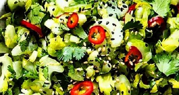 سالاد کرفس و گشنیز، طرز تهیه و درست کردن سالاد کرفس و گشنیز خوشمزه و مجلسی در منزل، salad-karafs-va-geshniz