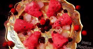 بستنی وانیلی آلبالویی, طرز تهیه بستنی وانیلی آلبالویی خوشمزه و مجلسی در منزل برای 2 تا 4 نفر, bastani vanili albaloyi
