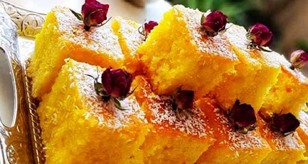 کیک باقلوا ، طرز تهیه و درست کردن کیک شربتی باقلوا با شهد مخصوص گلاب به صورت خوشمزه و مجلسی در منزل
