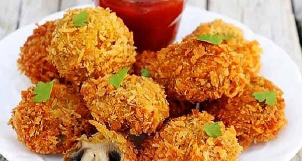 قارچ سوخاری ، طرز تهیه و درست کردن قارچ سوخاری خوشمزه و مجلسی پنیری در خونه، gharch-sokhari