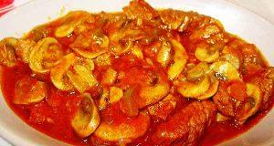 خورش قارچ و گوشت ، طرز تهیه و پخت خورش قارچ و گوشت خوشمزه و مجلسی برای 4 نفر ، khoresh gharch gosht