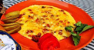 املت سیب زمینی, طرز تهیه و پخت املت سیب زمینی خوشمزه و مجلسی در منزل برای 2 و 3 نفر ، omelet-sibzamini