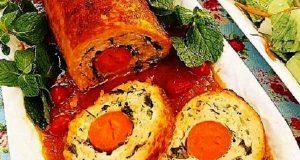رولت مرغ ، طرز تهیه و پخت رولت مرغ خوشمزه و مجلسی در منزل مرحله به مرحله