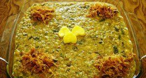 آش گوشت ، طرز تهیه و پخت آش گوشت خوشمزه و مجلسی در منزل با نخود و برنج برای 4 تا 5 نفر ، ash-gosht