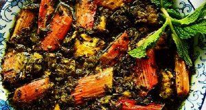 خورش ریواس ، طرز تهیه و پخت خورش ریواس خوشمزه و مجلسی جاافتاده در منزل به صورت تصویری با گوشت مرغ و قرمز ، khoresh rivas