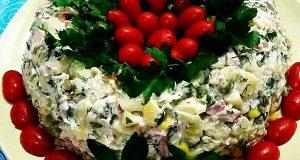 سالاد سیب زمینی با ژامبون ، آموزش طرز تهیه و درست کردن سالاد سیب زمینی با ژامبون در منزل ، salad sibzamini ba gambon