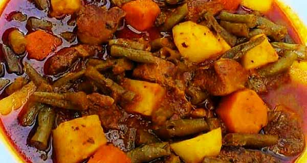 خوراک لوبیا سبز ، طرز تهیه و پخت خوراک لوبیا سبز خوشمزه و  مجلسی مخصوص در منزل برای مهمانی ، khorak-loobia-sabz