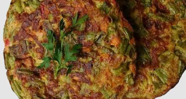 کوکوی لوبیا سبز، طرز تهیه و پخت کوکوی لوبیا سبز خوشمزه و مجلسی مخصوص با گوشت چرخ کرده و تخم مرغ در خانه ، koo-koo-loobia-sabz