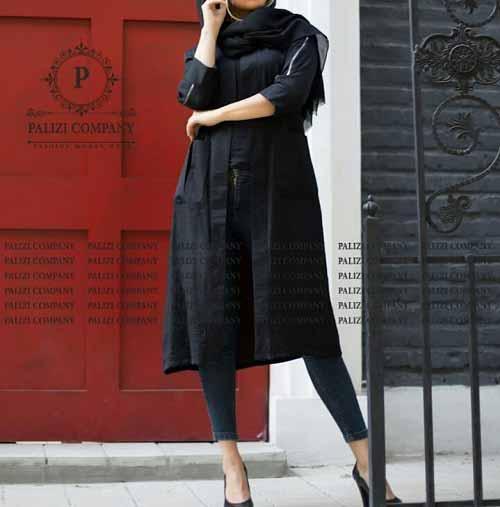 مدل مانتو مشکی کوتاه برای محرم ویژه دخترانه