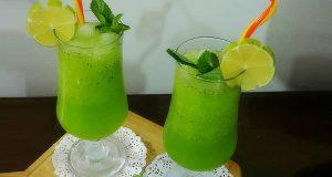 موهیتوی لیمو ، طرز تهیه و درست کردن نوشیدنی موهیتوی لیمو و نعنا در خانه ، mohito limoo