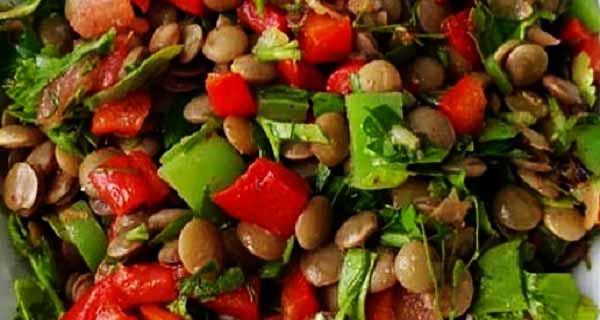 سالاد عدس ، طرز تهیه و درست کردن سالاد عدس آموزش کامل ، salad-adas
