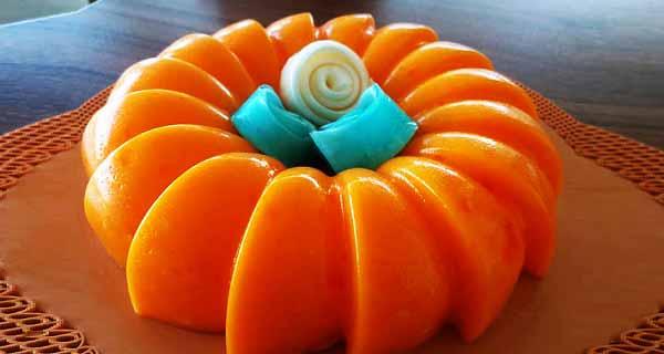 دسر پرتقالی، آموزش کامل طرز تهیه و درست کردن دسر پرتقالی خوشمزه با آب پرتقال و پودر ژله پرتقال در خانه، deser-portugal