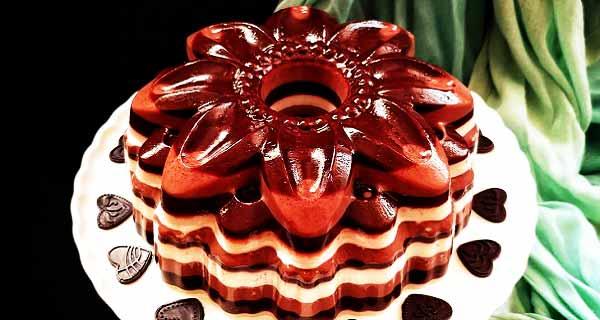 دسر شکلاتی سه رنگ، طرز تهیه و پخت دسر شکلاتی سه رنگ خوشمزه و مجلسی در منزل ، desser shokolati se rang