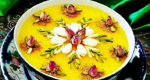 شله زرد ، طرز تهیه و درست کردن شله زرد نذری به صورت خوشمزه و مجلسی در خانه ، shole-zard