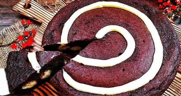 کیک کرم دار شکلاتی، طرز تهیه و پخت کیک کرم دار شکلاتی  خوشمزه و مجلسی در منزل ، creamy-chocolate-cake