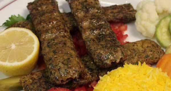 طرز تهیه کباب لبنانی خوشمزه با گوشت چرخ کرده گوساله و گوسفند در خانه، kabab-lobnan