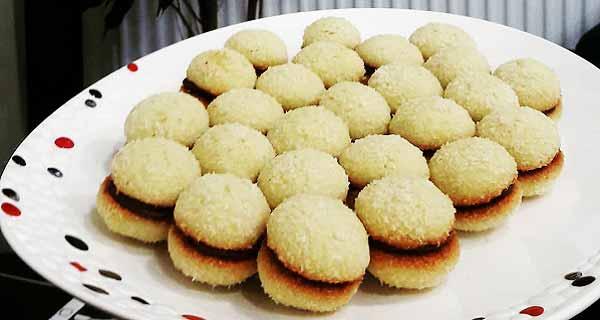 کوکیز نارگیلی شکلاتی، آموزش کامل طرز تهیه و پخت کوکیز نارگیلی شکلاتی در خانه، cookies-nargili-shokolati