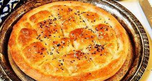 نان پیده، طرز تهیه و پخت نان پیده خوشمزه و ترکیه ای برای صحبحانه 2 تا 4 عدد، khk \dni jv;di hd