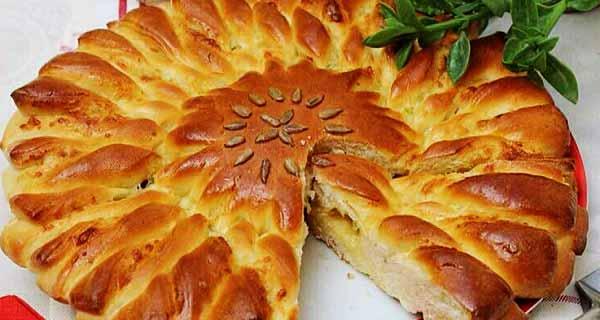 نان پیاز، طرز تهیه و پخت نان پیاز و پیازچه خوشمزه و مجلسی در منزل برای 4 نفر و 5 عدد، nane piyaz
