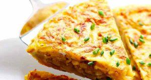 املت اسپانیایی، طرز تهیه و پخت املت اسپانیایی به روشی خوشمزه در منزل، omelet espaniyaei