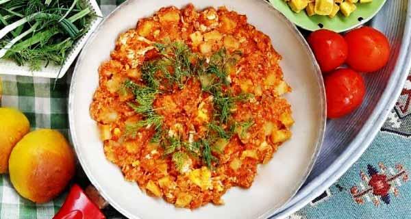 املت سیب زمینی و گوجه فرنگی، طرز تهیه و پخت املت سیب زمینی خوشمزه در منزل ، omelet sibzamini va goje ferengi